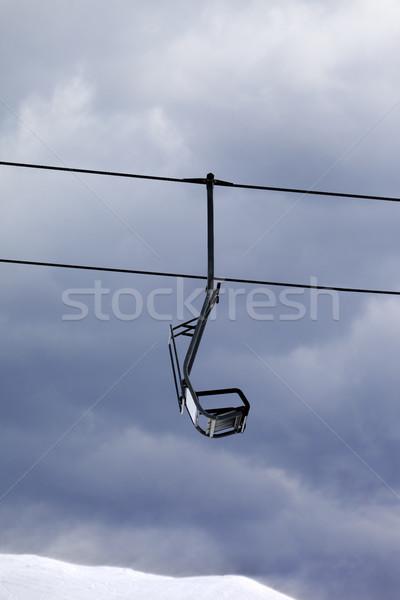 Cadeira elevador cinza ventoso dia cáucaso Foto stock © BSANI