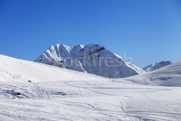 Off piste slope at nice sun day Stock photo © BSANI