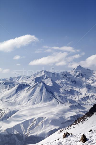 Snowy mountains in nice sun day Stock photo © BSANI