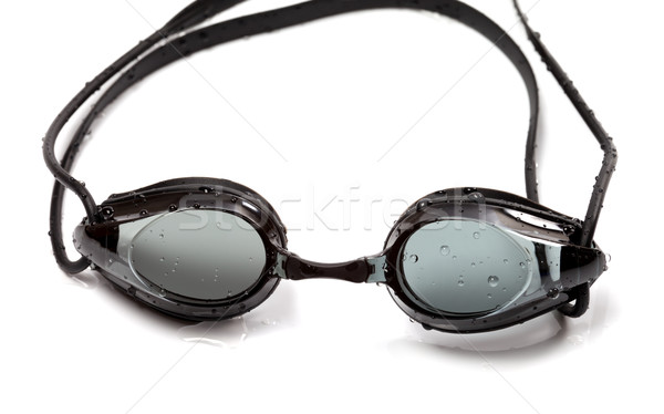 Nedves védőszemüveg úszik fehér izolált nyár Stock fotó © BSANI