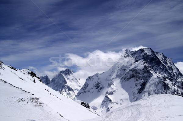 Kaukasus bergen regio hemel landschap berg Stockfoto © BSANI
