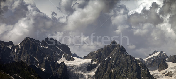 Panorama cloudy mountains Stock photo © BSANI
