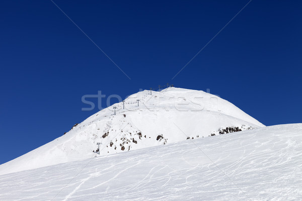 Ski resort kaukasus bergen Georgië hemel Stockfoto © BSANI