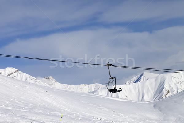Stock photo: Chair lift at ski resort
