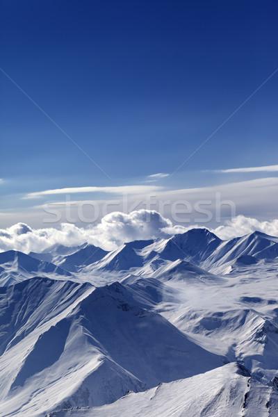 Snow-capped mountains Stock photo © BSANI