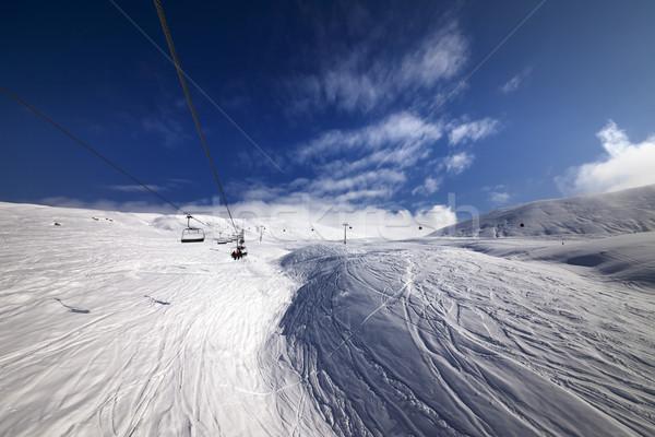 Ropeway over ski slope Stock photo © BSANI