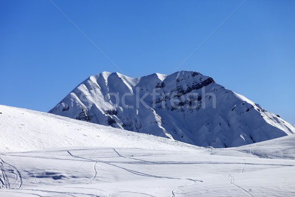 Off-piste slope in sun morning Stock photo © BSANI