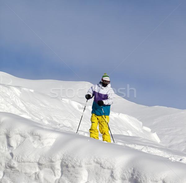 Skier on off-piste slope Stock photo © BSANI