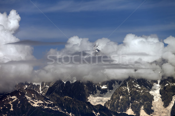 High Mountains covered with clouds Stock photo © BSANI