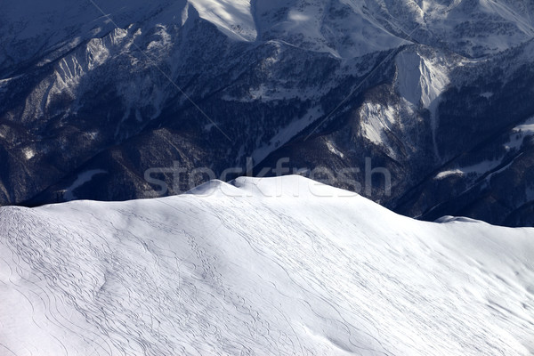 Top view on off piste slope in evening Stock photo © BSANI