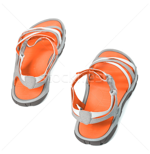 Summer sandals.Top view. Stock photo © BSANI