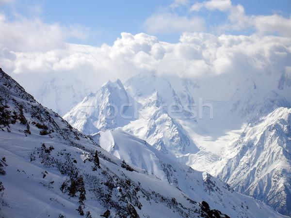 山 雲 コーカサス 地域 空 自然 ストックフォト © BSANI