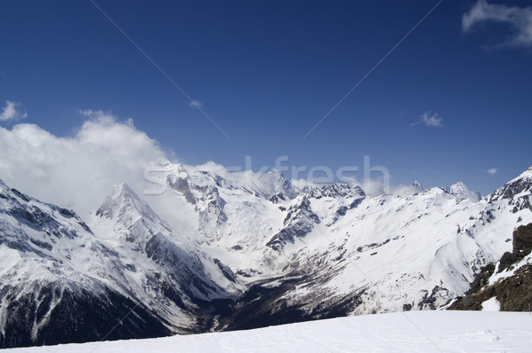 View from the ski resort Stock photo © BSANI
