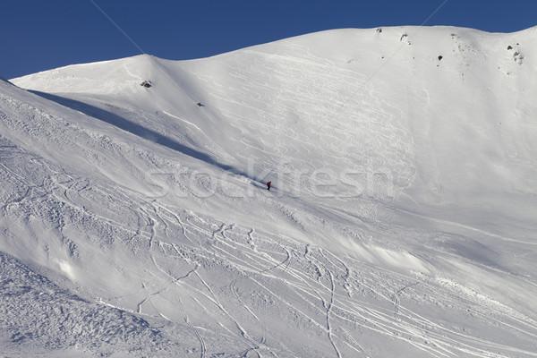 Snow skiing piste Stock photo © BSANI