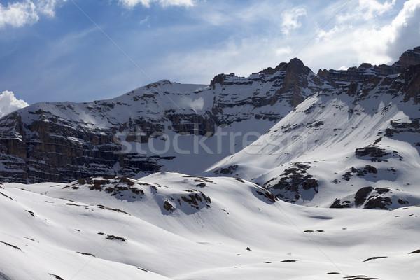 Snowy rocks Stock photo © BSANI
