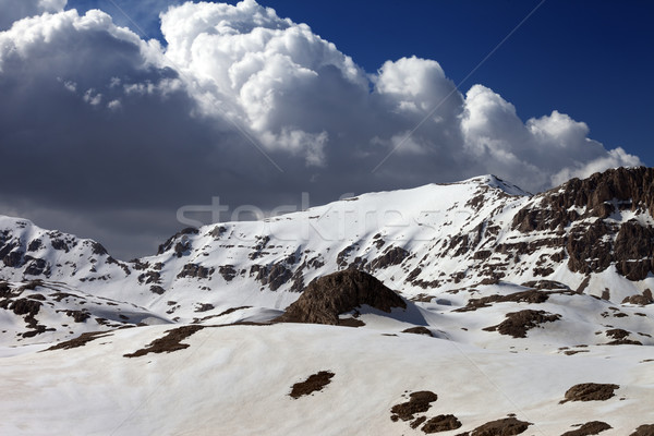 Snowy mountains in sunny day Stock photo © BSANI