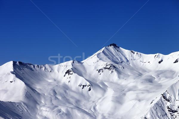 Mavi açık gökyüzü kafkaslar dağlar Georgia Stok fotoğraf © BSANI