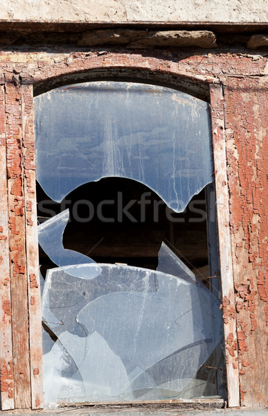 Wooden wall of old destroyed house Stock photo © BSANI