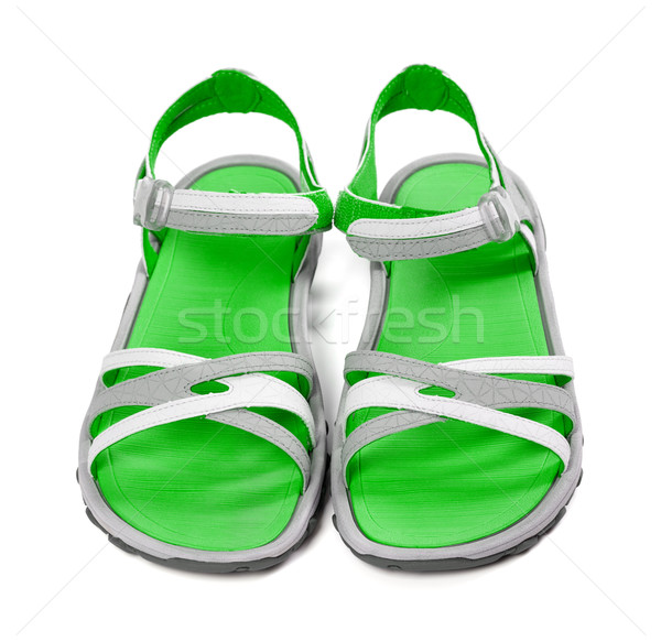Pair of summer sandals. Front view.  Stock photo © BSANI