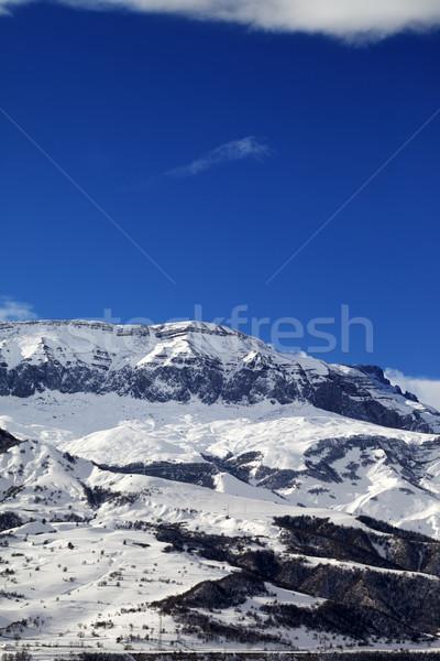 Tél hegyek szép nap nap Kaukázus Stock fotó © BSANI