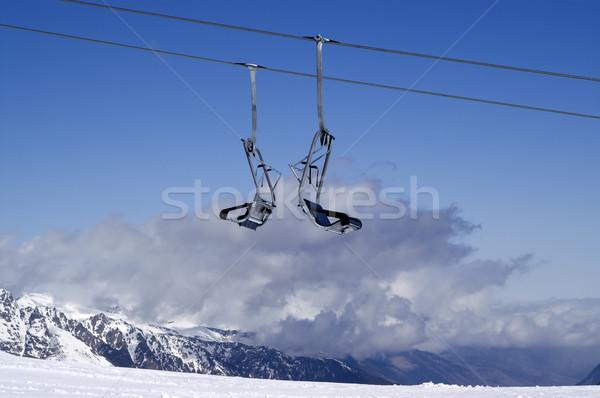 Chair-lift. Ski resort. Stock photo © BSANI