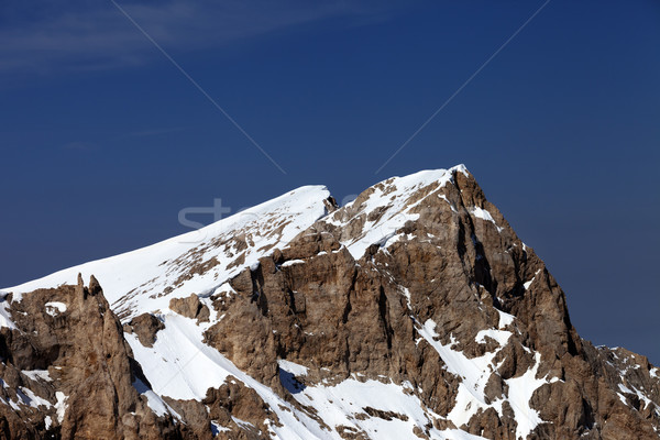 Top of mountains in nice day Stock photo © BSANI