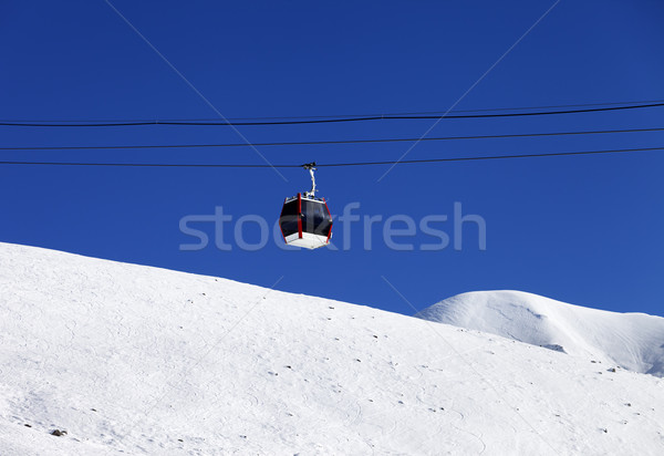 Gondola lift and off piste ski slope Stock photo © BSANI