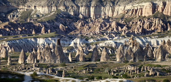 Panoramic view of Cappadocia valley at evening Stock photo © BSANI