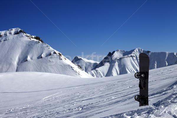 スノーボード 雪 スロープ 太陽 日 風景 ストックフォト © BSANI