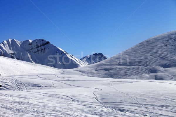 Off piste slope at nice winter day Stock photo © BSANI