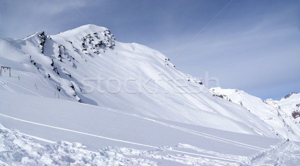 Panoramic view on off-piste slope Stock photo © BSANI