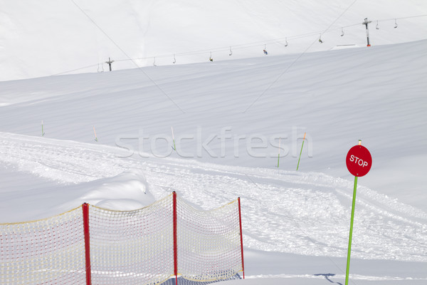 Closed ski slope with stop sign Stock photo © BSANI
