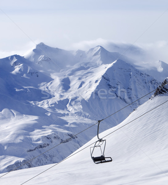 Chair lift at ski resort Stock photo © BSANI