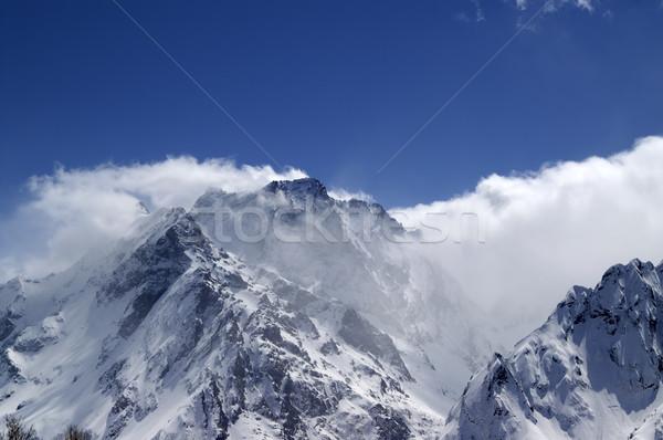 Cáucaso montanas nube paisaje hielo invierno Foto stock © BSANI