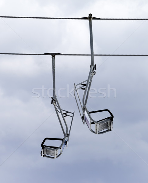 Chair-lifts and overcast sky Stock photo © BSANI