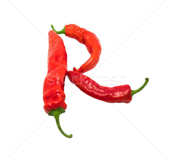 Letter R composed of chili peppers Stock photo © BSANI