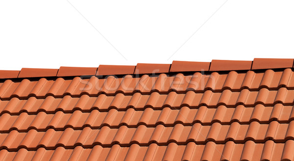 Roof tiles isolated on white background Stock photo © BSANI