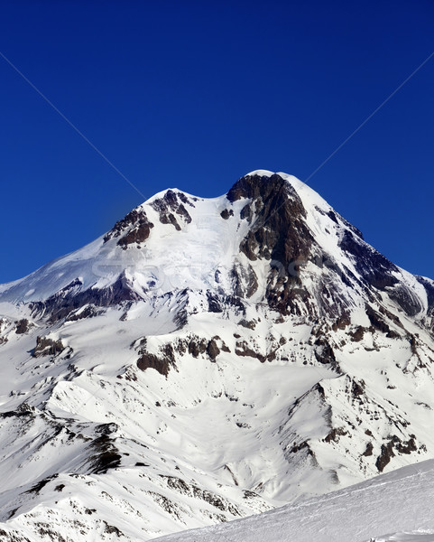 Mount Kazbek at sun winter day Stock photo © BSANI