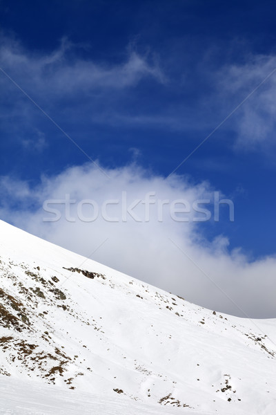Off-piste slope at nice day Stock photo © BSANI