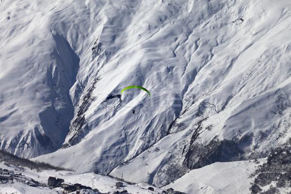Prędkości pływające śniegu góry słoneczny nice Zdjęcia stock © BSANI