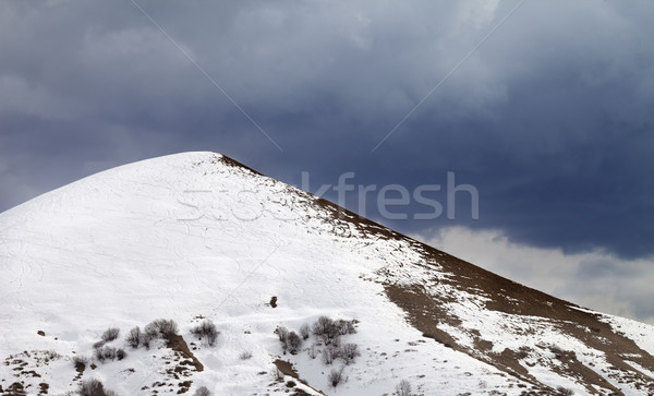 Off-piste slope and overcast gray sky Stock photo © BSANI