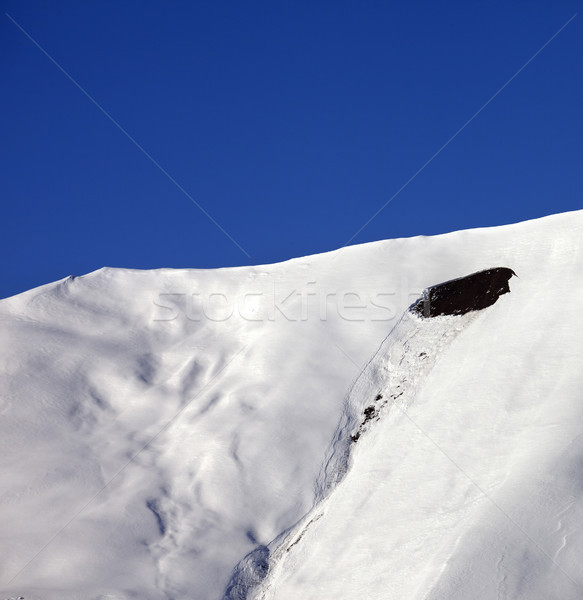 Trace of avalanche on off-piste slope in sunny day Stock photo © BSANI