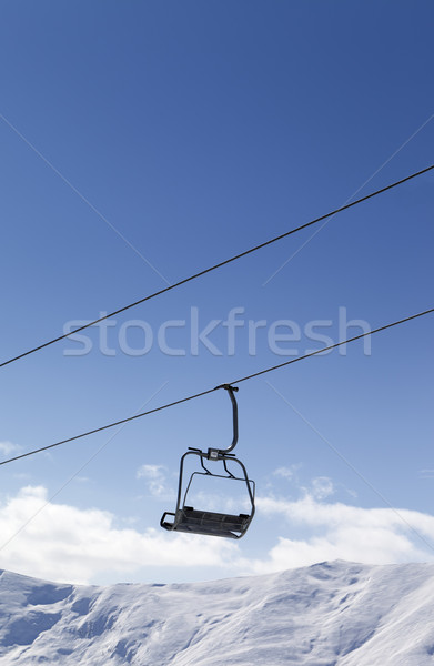 Chair lift against blue sky Stock photo © BSANI