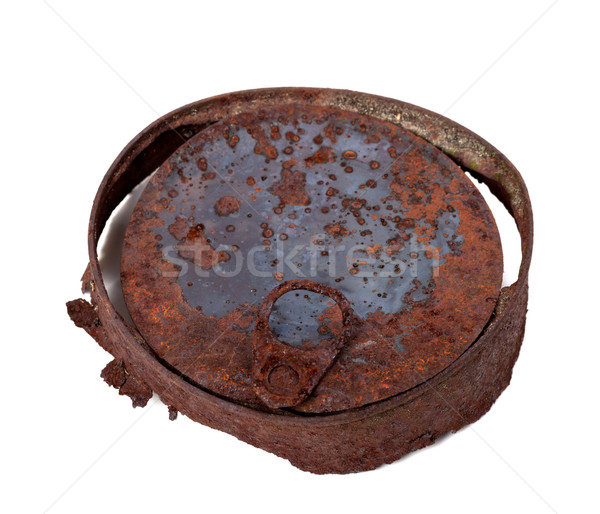Old rusty tin can isolated on white background Stock photo © BSANI