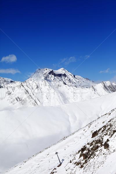Winter mount at sunshine day Stock photo © BSANI