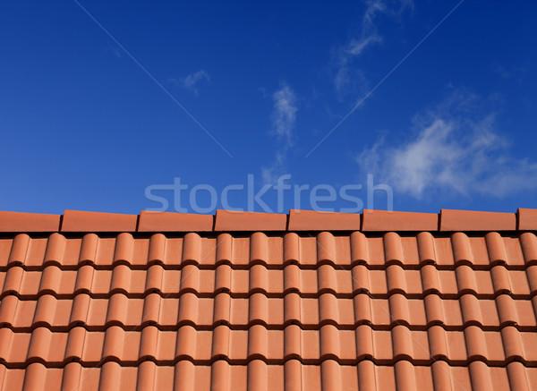 Roof tiles against blue sky Stock photo © BSANI