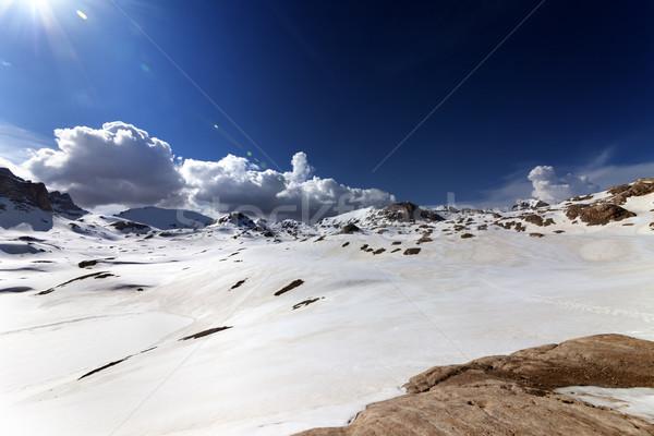 Nieve meseta agradable día Turquía central Foto stock © BSANI