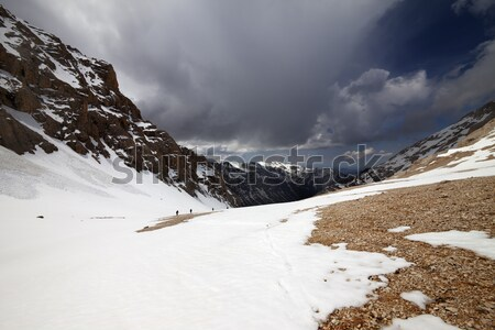 Snowy mountains at nice winter day Stock photo © BSANI