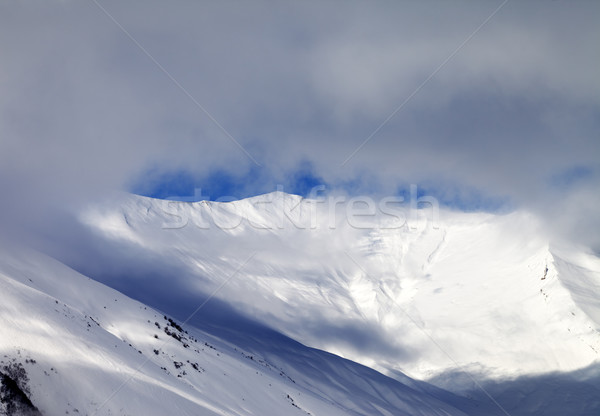 View on off-piste slope in mist Stock photo © BSANI