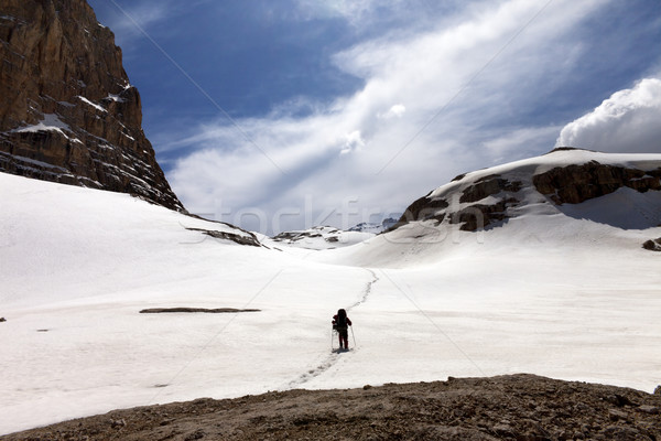Caminante nieve meseta Turquía central montanas Foto stock © BSANI